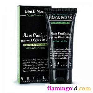 shills black mask masker wajah charcoal