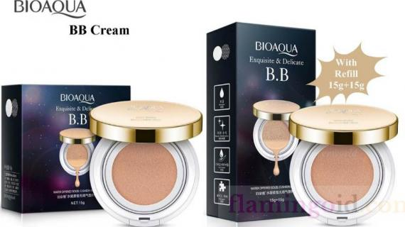Kulit Glowing dengan Bioaqua BB Cushion Equisite and Delicate