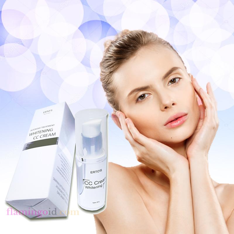 Ertos CC Cream - Produk Ertos Beauty Care memutihkan & melembabkan