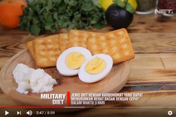Military Diet Cara Cepat Turunkan Berat Badan