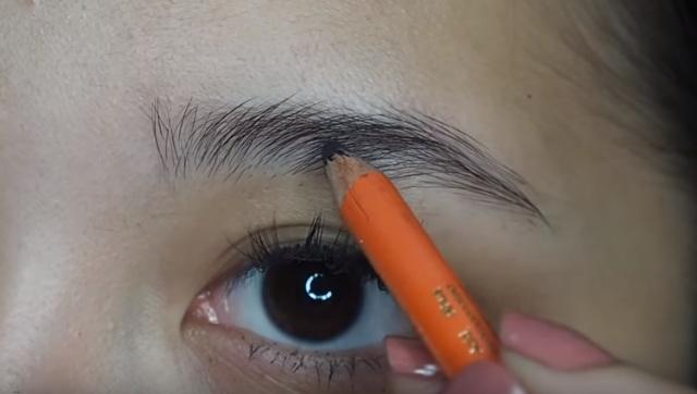 cara pake pensil alis